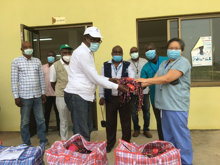 Donating fabric masks to local health authorities