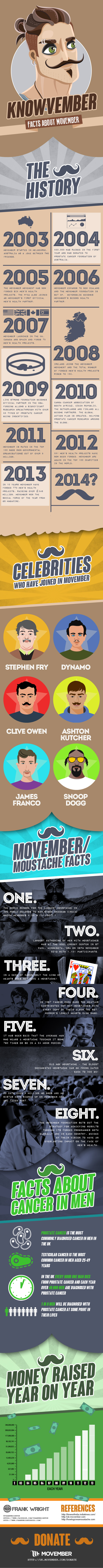 Knowvember – A Movember Fact Infographic