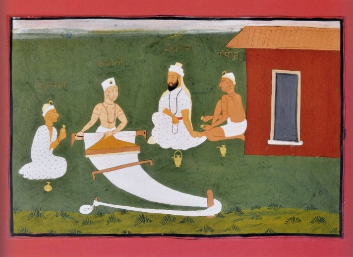 Saint Kabir with his Guru Ramananda