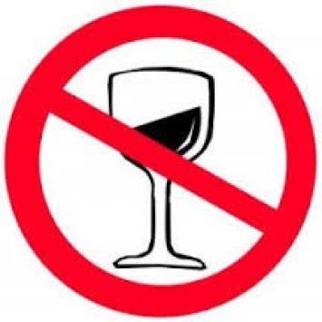 DIVIETO BEVANDE ALCOLICHE