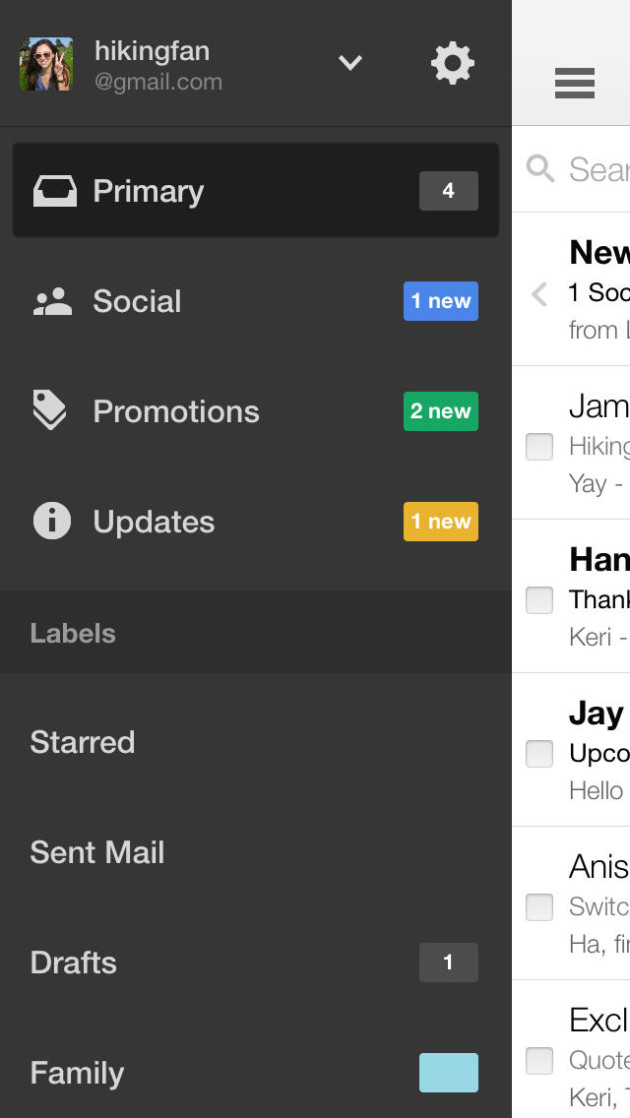 Gmail email from Google