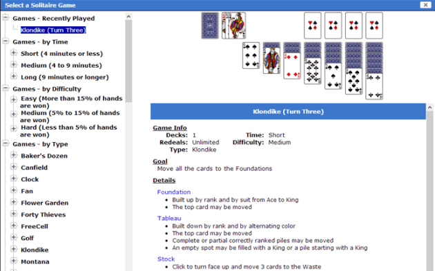 details apps World of Solitaire