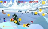 Playing Blue Lightnings Sled Race : Download Blue Lightnings Sled Race   Downhill Racing Game In The Snowy Mountain