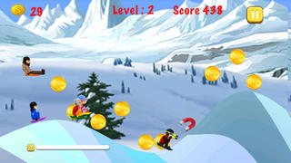 download Blue Lightnings Sled Race - Downhill racing game in the snowy mountain