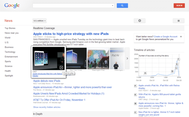 download Google News apps for iphone