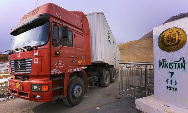 A Chinese truck enters Pakistan-occupied Kashmir (POK). (Representative photo)