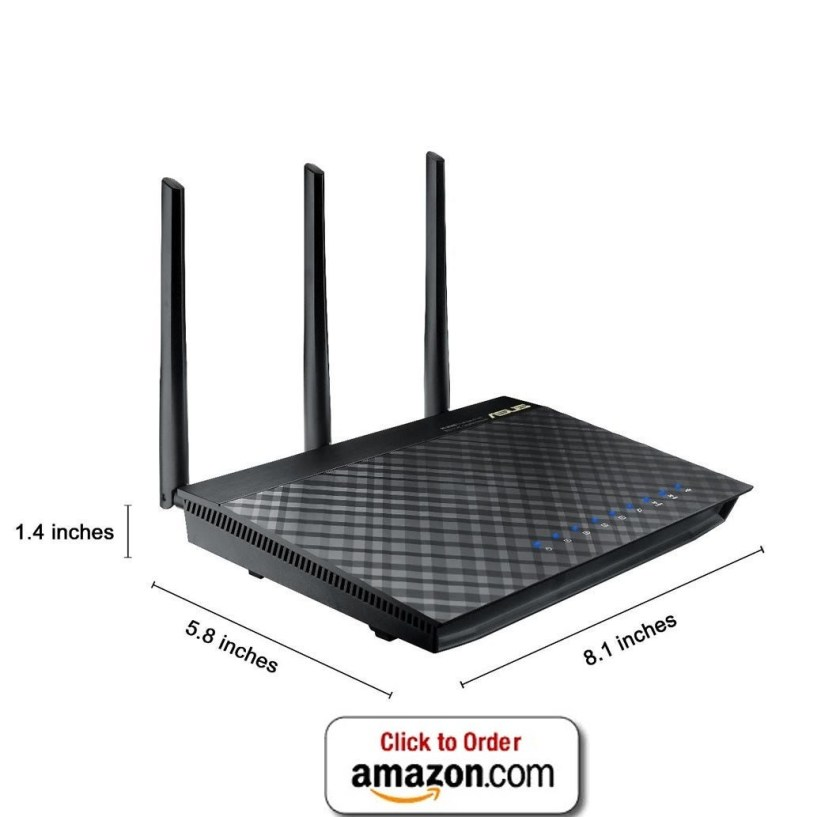 Asus AC1750 RT AC66U Dual-Band Wireless Gigabit Wifi Router