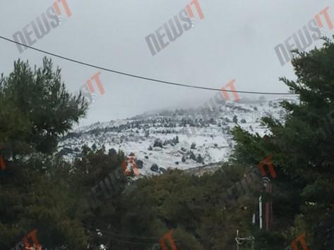 Πάμε χιονοπόλεμο; Εντυπωσιακές φωτό από Πεντέλη, Διόνυσο!