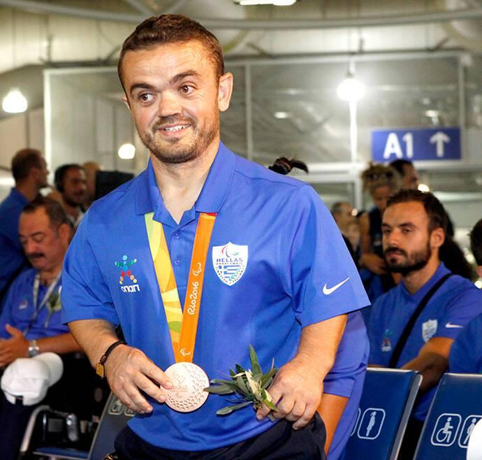Άφιξη - Ελληνική Παραολυμπιακή Ομάδα - αεροδρόμιο - Ελευθέριος Βενιζέλος