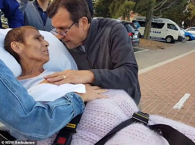 Stricken with cancer, grandmotherCarmen Leon de la Barra fulfilled her dying wish with her husband Antonio (together)