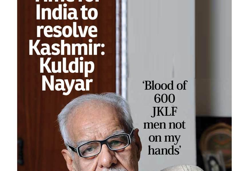 Time for India to resolve Kashmir: Kuldip Nayar