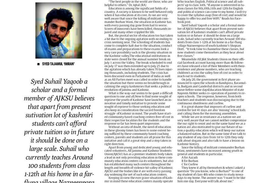 Kashmir: Community Schooling Keeping the flame lit
