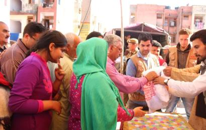 Promoting Universal Brotherhood : Mother HelpAge Distributed Lotus Stem, Walnuts on Shivratri