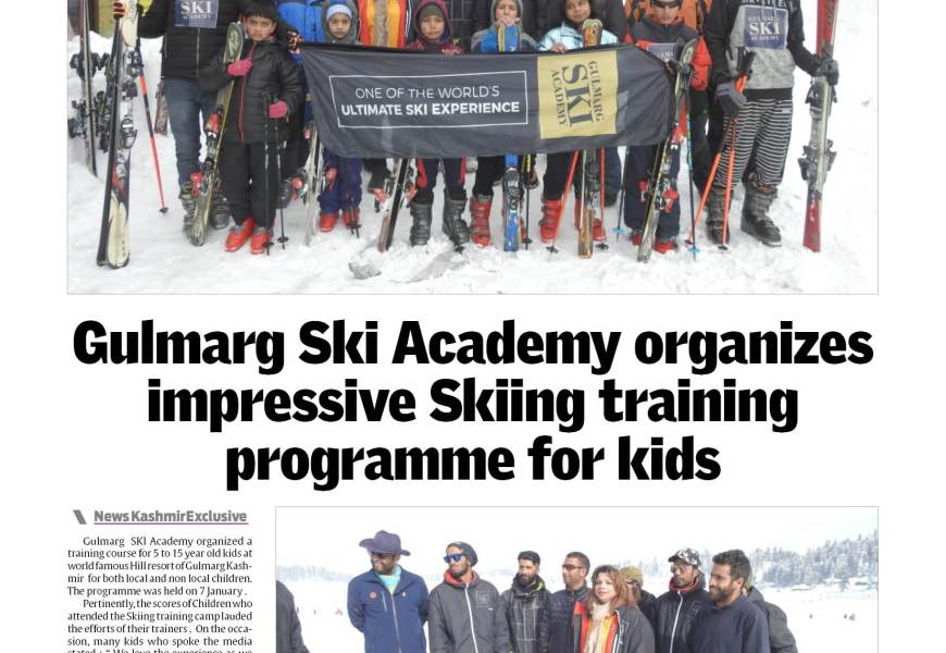 Gulmarg Ski Academy organizes impressive Skiing training programme for kids