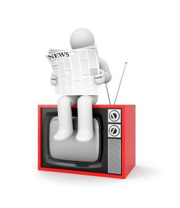 TV newspaper image via Shutterstock
