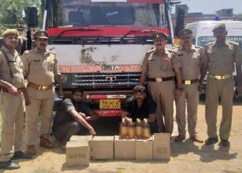 वाराणसी : 50 लाख की शराब के साथ 2 तस्कर गिरफ्तार