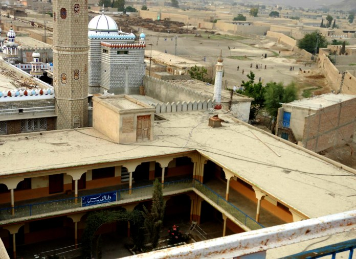 Wide view ofthe sprawling Jamia Dar-ul-Uloom Waziristan in Wana