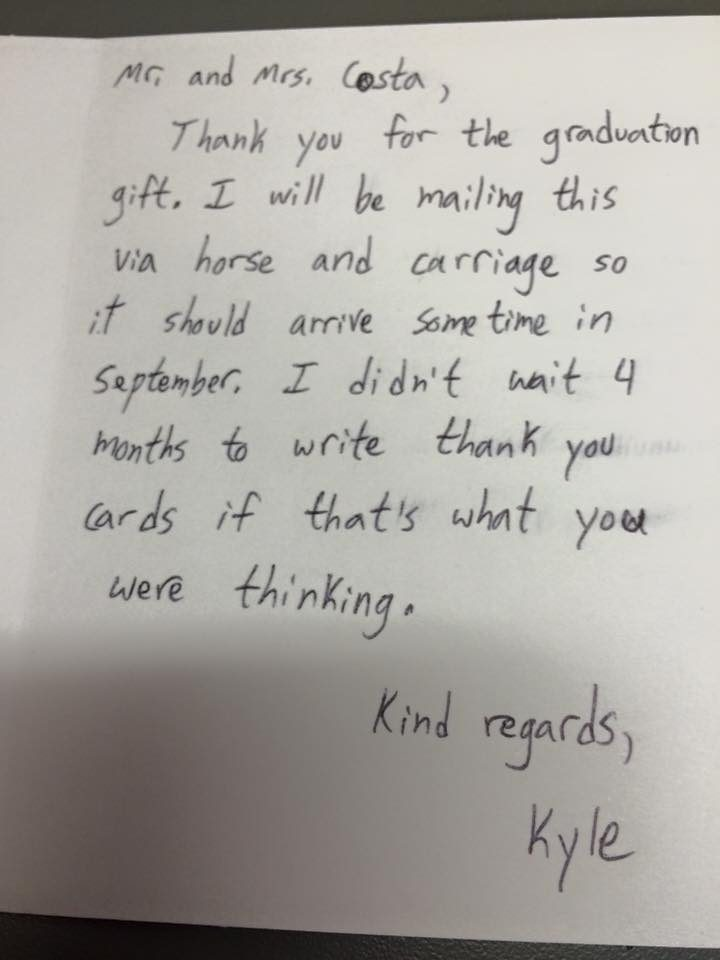 This Kids Thank You Letters Are So Spot On He Should