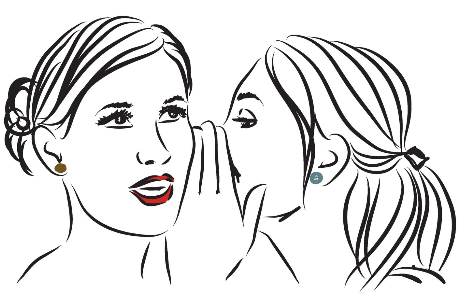 Clip Art Whispering In Ear
