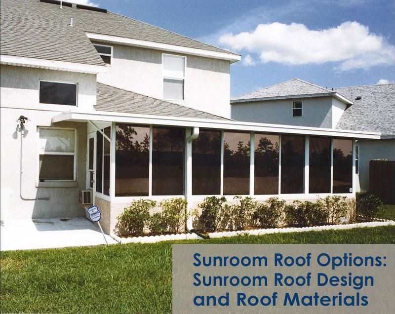 sunroom roof options sunroom roof