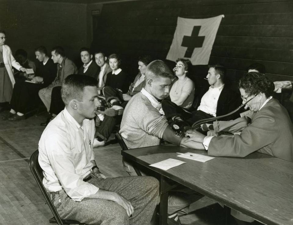 In the 1950s, Duke students were lining up to donate blood.