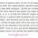 Giorgia Lucini dice la sua a Manfredi Ferlicchia