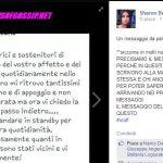 Messaggio della madre di Sharon Bergonzi