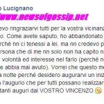 Vincenzo Lucignano dichiara la fine a Teresa Cilia