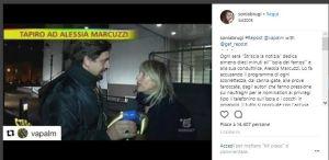 Valerio Staffelli inviato di Striscia la Notizia e Sonia Bruganelli scontro