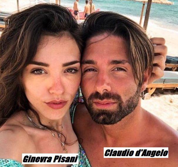 Foto di Claudio d'Angelo e Ginevra Pisani con lei che fa intendere senza ombra di dubbio che la storia fra di loro è conclusa una volta per tutti.