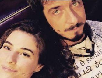 Foto dell'attore Paolo Ruffini e della sua fidanzata Diana del Bufalo,