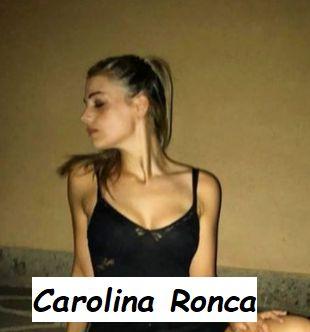 Foto in bikini di Carolina Ronca in vestito da sera