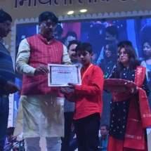 जिलास्तरीय मिथिला चित्रकला प्रतियोगिता में अनिमेश को मिला प्रथम पुरस्कार। news of mithila