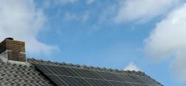 Vijf zonnepanelen en al 2000Wp vermogen
