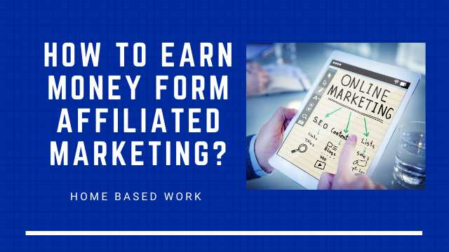 How to Earn Money Affiliated Marketing Jobs