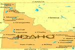 Idaho of map