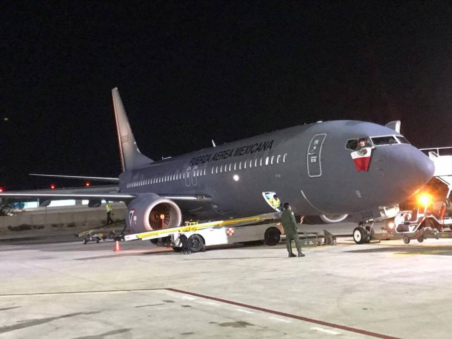 The planes of the Mexican Air Force returned to the country with Mexican citizens stranded in Argentina. (Photo: TN and the People)