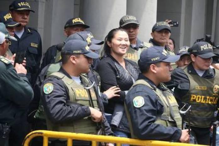Former presidential candidate Keiko Fujimori leaves the Palace of Justice on November 1, 2018. Andina / Vidal Tarqui / via REUTERS