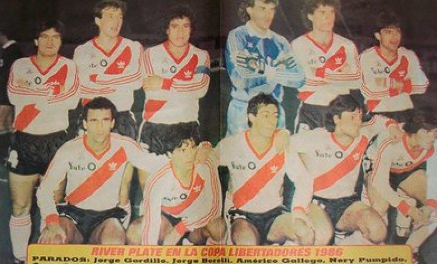 River won its first Copa Libertadores in 1986. Soccer players such as Nery Pumpido, Oscar Ruggeri, Héctor Enrique, Américo Rubén Gallego, Beto Alonso, Antonio Alzamendi or Juan Gilberto Funes stood out.