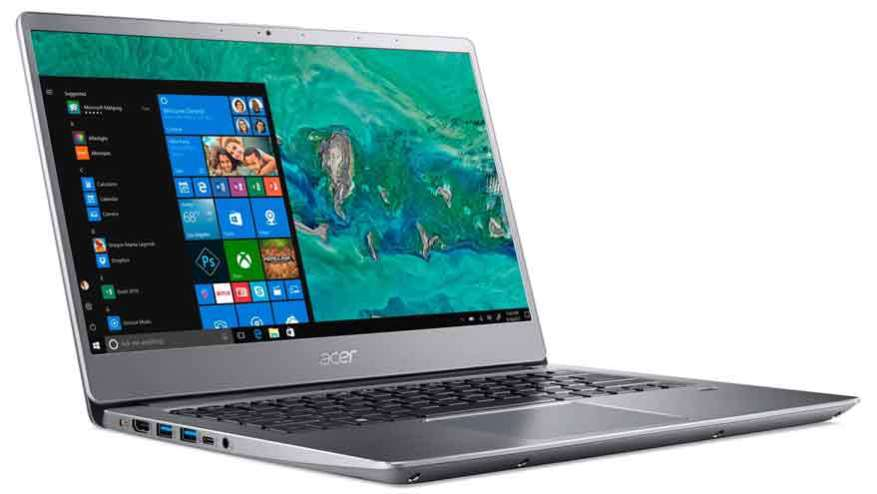 Acer's notebook is one of the lightest in its class.