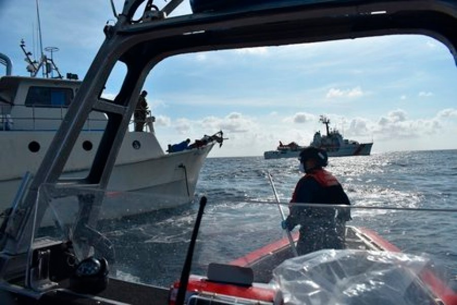 The United States Coast Guard seized in June a cache of approximately 1,500 packages of cocaine on June 8, near the coast of Panama (Photo: EFE / Brandon Murray / United States Coast Guard)
