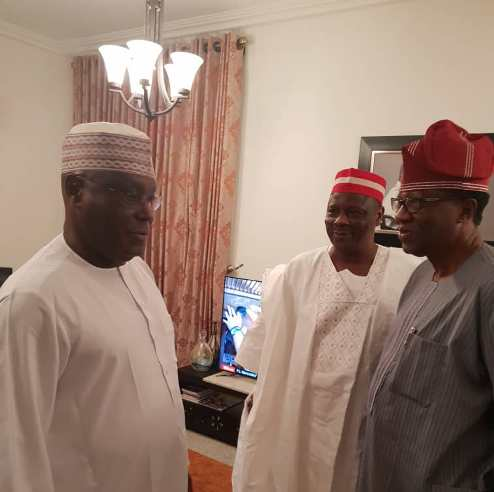 APC Chieftain, Kwankwaso Snubs Convention, Visits Atiku In Abuja