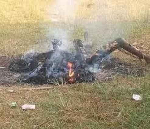Angry Youths Set Man Ablaze For Killing Seven Family Members, Two Others