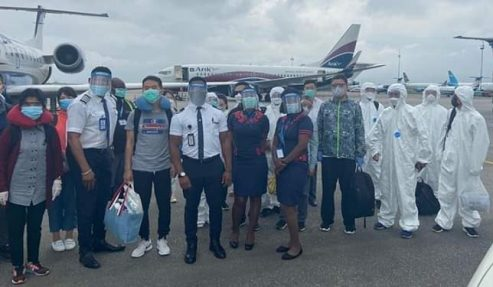 Controversial Covid-19 Chinese Medics Finally Depart Nigeria