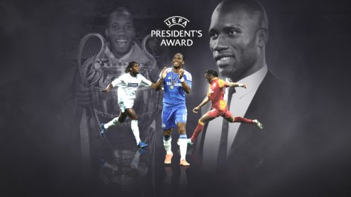 Ex-Chelsea Striker Didier Drogba To Receive UEFA President's Award