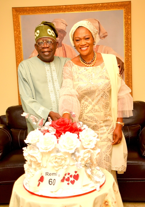 Tinubu Pays Tribute To His Wife, Oluremi At 60, Hails Her For Perseverance, Endurance