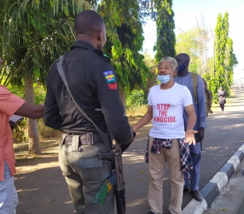 DSS Arrests One Man Protester, Malcolm Omirhobo For Insisting On Seeing Buhari