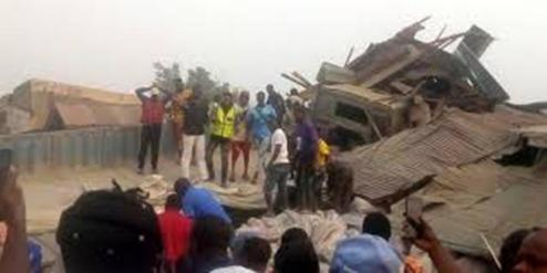 Scores Feared Dead, Injured As Dangote Truck Rams Into Shops In Ondo