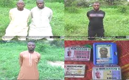 Boko Haram/ISWAP Releases Pictures Of Abducted Soldiers, Yobe Protocol Officers