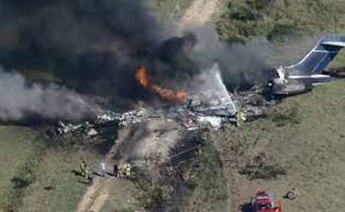 Twenty One Passengers Escape Death In  Plane Crash In Houston, USA